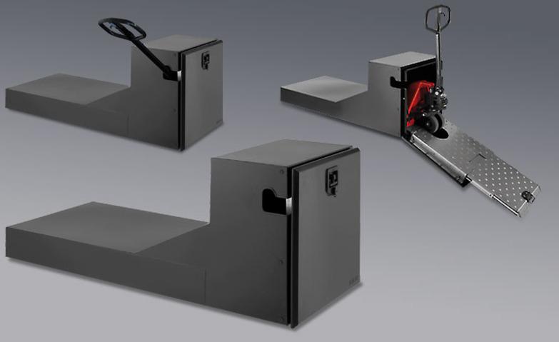 Автомобильный ящик для транспортировки погрузчика